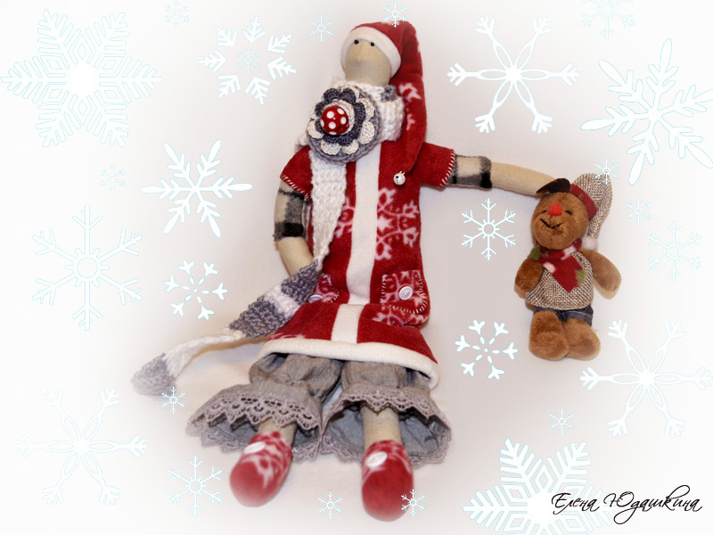 Тильда Дед Мороз с оленем