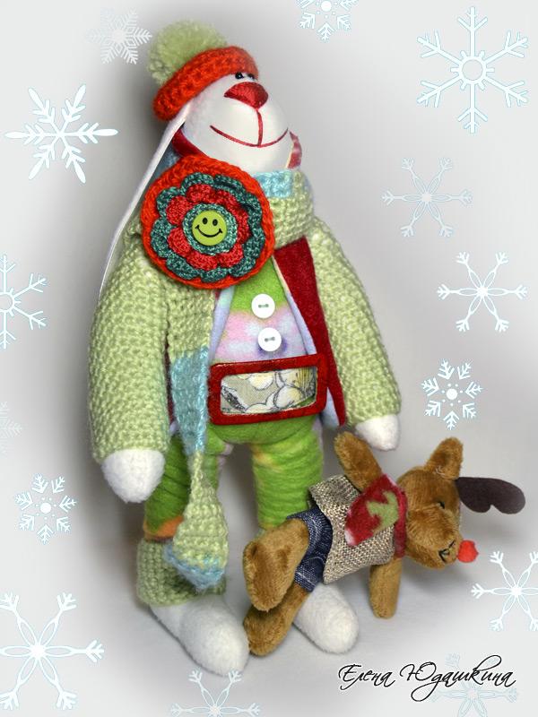 Заяц в шарфе